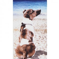 Serviette de plage Chien Jack Russel