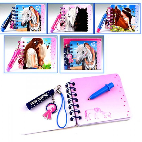 Mini carnet et stylo Cheval Miss Melody
