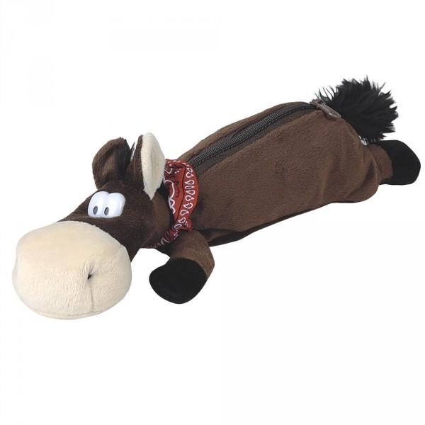 Trousse en peluche theme cheval