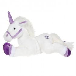Peluche licorne blanche et violet