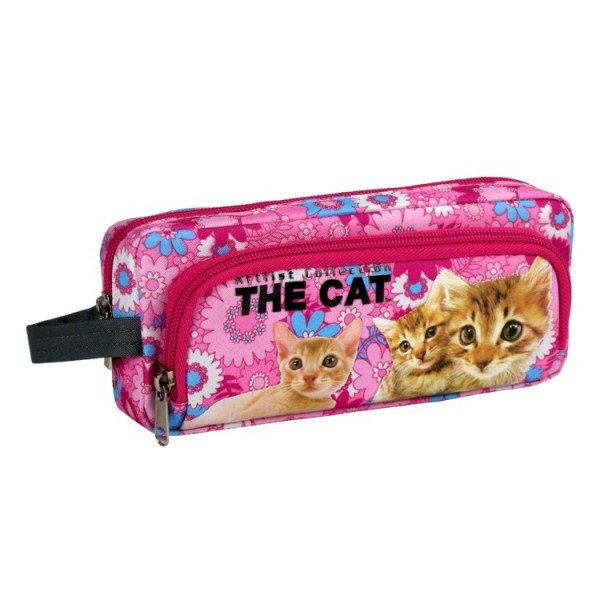 Trousse Chat rose