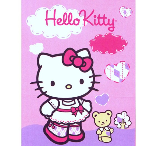Plaid polaire Hello Kitty nounours