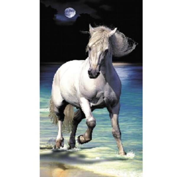 Grande Serviette de plage Cheval Lune - 140 X 160 cm