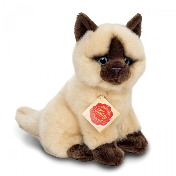 Peluche chat Siamois assis 20 cm