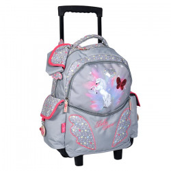 Sac à roulettes - Cartable Cheval Bella Sara Papillon