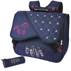 Cartable Cheval Indiana 38 cm et sa trousse