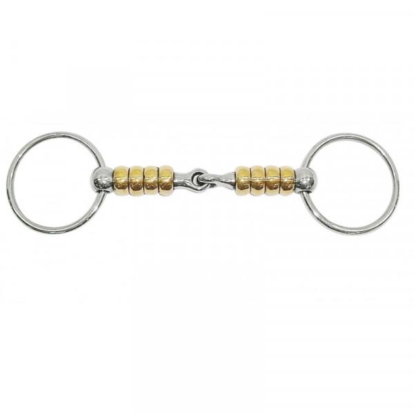 Mors 2 anneaux Magic System Metalab Roulettes en cuivre cerise