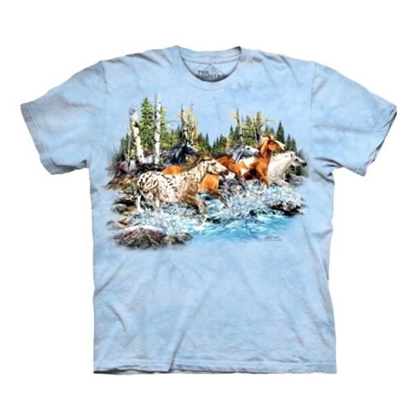 Tee shirt enfant enfant chevaux galop