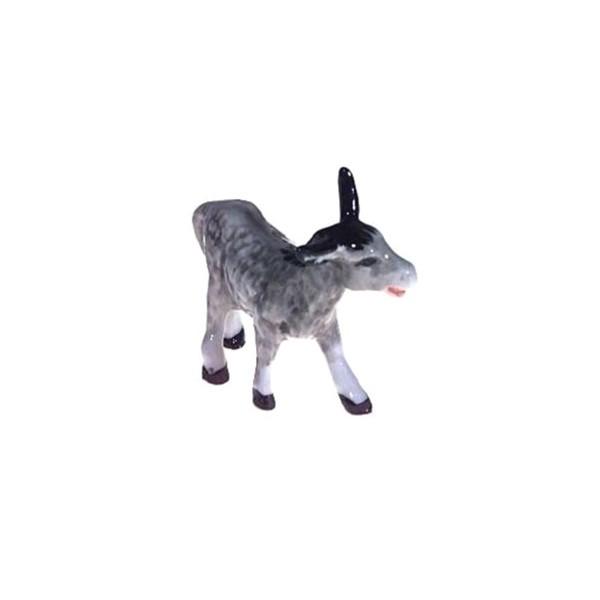 Ane gris - miniature porcelaine