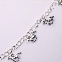 Bracelet argent breloques chevaux