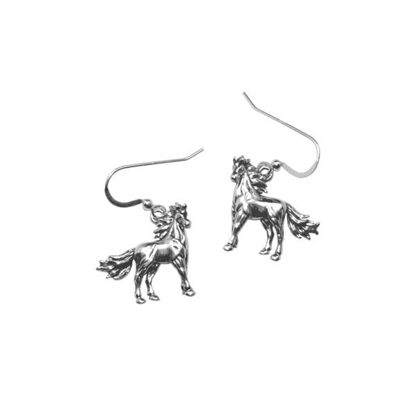 Boucles d'oreilles Cheval argent Fier Etalon