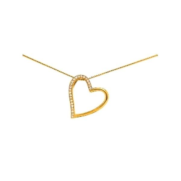 Collier Joli coeur- plaqué or et oz