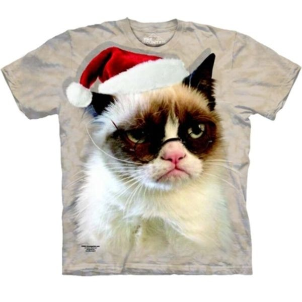Tee shirt  Chat Holiday Grumpy