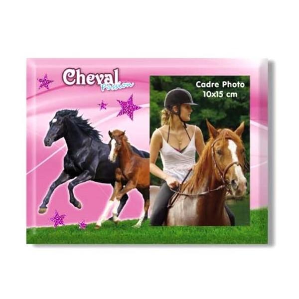 Cadre photo rose Chevaux en liberté