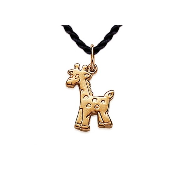 Pendentif Girafe Plaqué Or