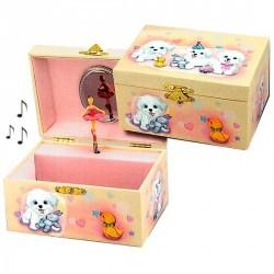 Boite à bijoux musicale petits Chiens