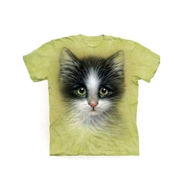 Tee shirt enfant Chat aux yeux verts