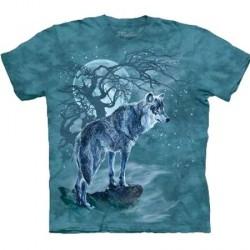 Tee shirt Loup à la pleine lune - Taille S