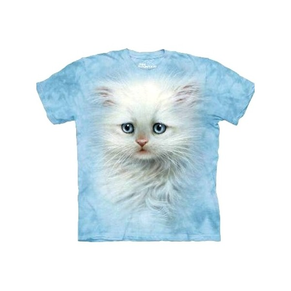 Tee shirt  Chat blanc