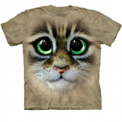 Tee shirt  Chat aux grands yeux - Taille M