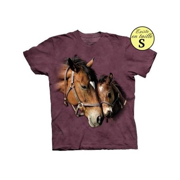 Tee shirt Chevaux 2 coeurs