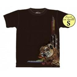 Tee shirt Tigre et lumières - Taille S