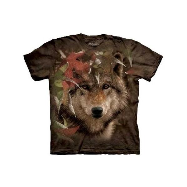 Tee shirt Loup en automne