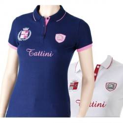 Polo Tattini femme double écusson