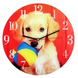 Horloge Chien et son ballon