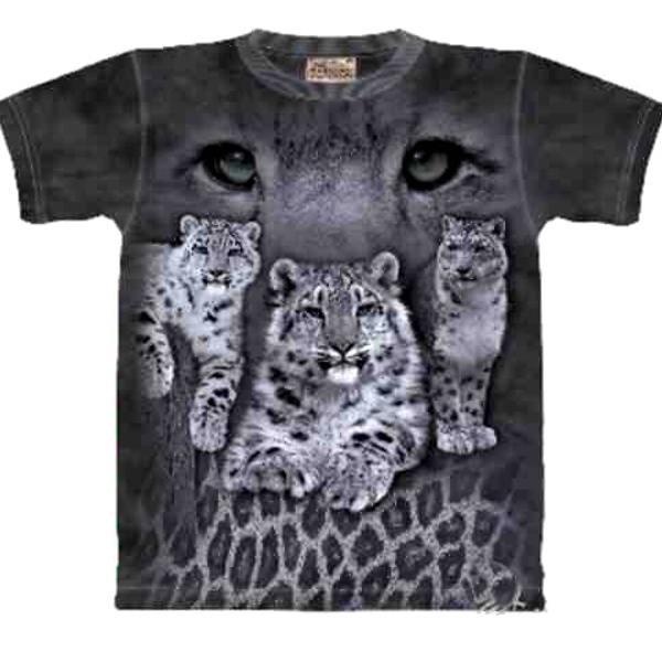 Tee shirt Léopard des Neiges - Taille L