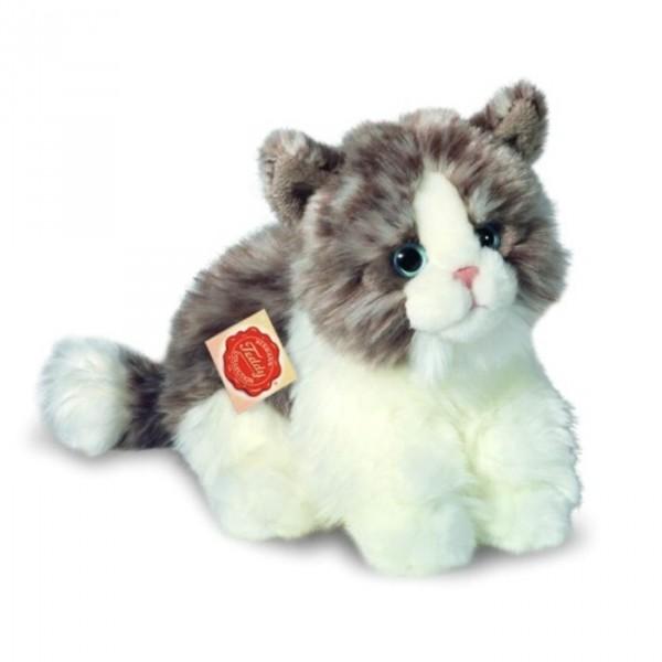Peluche chat gris 35 cm