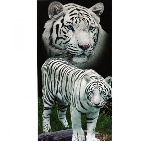 Serviette de plage Tigres blancs