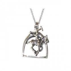 Pendentif Cheval polo argent