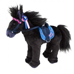 Peluche Cheval Black  Angel 27 cm