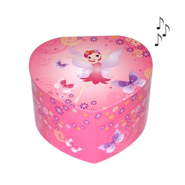 Boite à bijoux musicale Fée Coeur